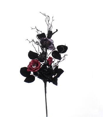 Maker's Halloween Rose Pick-Burgundy & Black