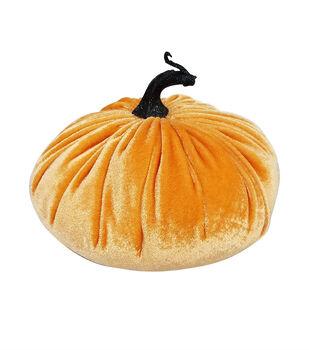 Maker's Halloween Medium Velvet Fashion Pumpkin-Orange