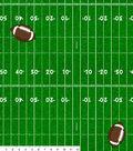 Fleece No Sew Throw-Football Field