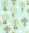 Nursery Cotton Fabric 43\u0027\u0027-Adventure Balloons
