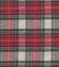 Plaiditudes Brushed Cotton Fabric 44\u0022-Red & Green