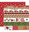 Celebrate Christmas Double-Sided Cardstock 12\u0022X12\u0022-Border Strips