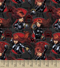 Marvel Comics Cotton Fabric 43\u0022-Black Widow Serious Business