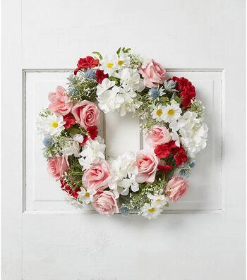 Fresh Picked Summer Rose & Geranium Wreath