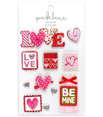 Park Lane 11 pk Stickers-Valentines Love