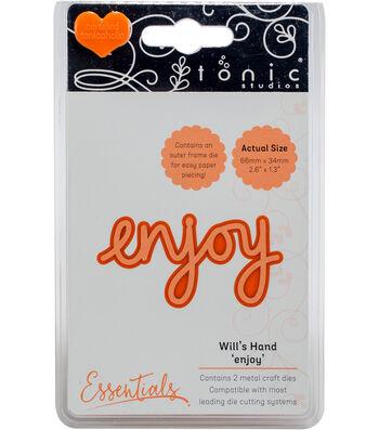 Tonic Studios Essentials Will's Hand Miniature Moments 2 pk Dies-Enjoy