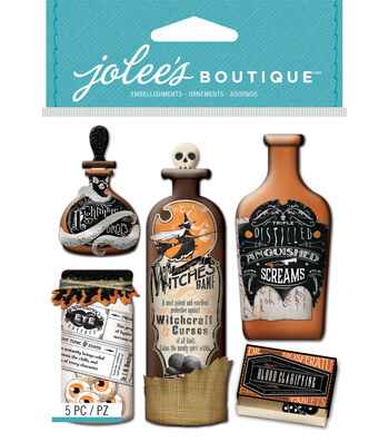Vintage Bottles And Labels Halloween