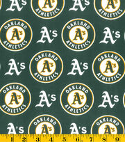 Oakland Athletics Cotton Fabric -Logo, , hi-res
