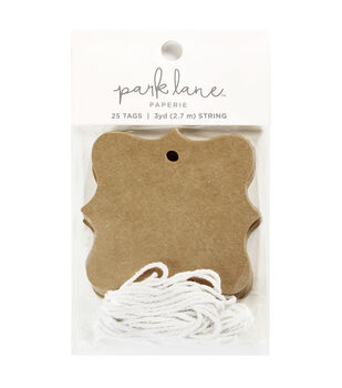 Park Lane Cartouche Tags & String-Kraft