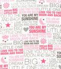 Nursery Flannel Fabric -Dream Big Little One