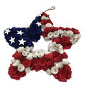 Land of the Free Woodchip Star Wreath