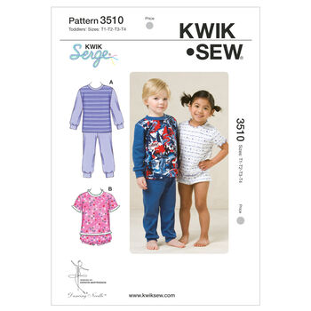 Kwik Sew Pattern K3510 Toddlers' Sleep & Lounge