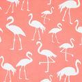Fast Fashion Dobby Print Fabric-Coral Flamingo
