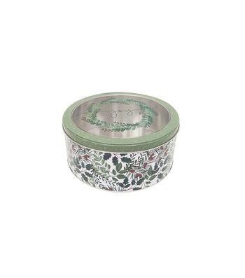 Maker's Holiday Medium Round Cookie Container with Clear Top-Joy