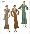 Simplicity Pattern 8247 Misses\u0027 1930s Dress & Jacket-Size R5 (14-22)