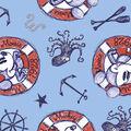 Disney Mickey & Minnie Mouse Fabric -Nautical Sailing Since 1928