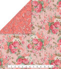 Double Faced Pre-Quilted Cotton Fabric -Vintage Floral