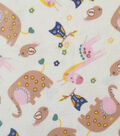 Soft & Comfy Fleece Fabric 57\u0022-Baby Zoo Animals