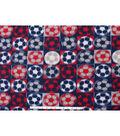 Blizzard Fleece Fabric -Soccer Patch Americana