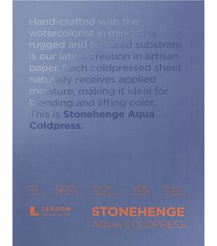 Stonehenge Aqua Coldpress 15-sheet 9''x12'' 140 lbs. Paper Pad-White