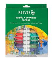 Reeves Acrylic Paints 10ml 24/Pkg-Assorted Colors, , hi-res