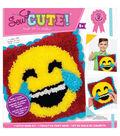 Sew Cute! Latch Hook Kit-Emoji Laugh & Tears