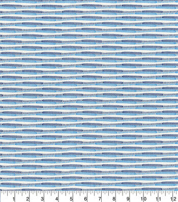 """P/K Lifestyles Upholstery Fabric 13x13"""" Swatch-Breathing Space Ocean"""