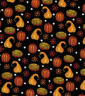 Fall Harvest Cotton Fabric-Autumn Black Gords
