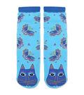 Laurel Burch Slipper Socks-Indigo Cat