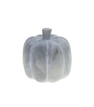 Maker's Halloween Craft 4.5''x4.5'' Cement Pumpkin-Gray