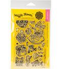 Waffle Flower Crafts 19 pk Clear Stamps 4\u0027\u0027x6\u0027\u0027-The Season