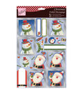 Anita\u0027s A4 Foiled Decoupage Sheet-Santa & Snowman