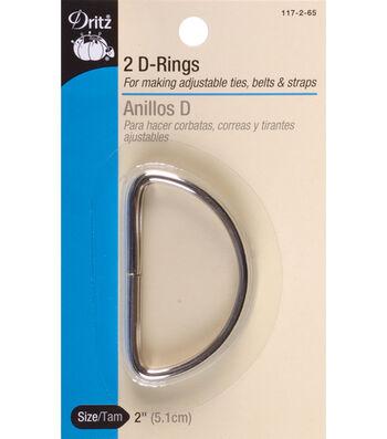 Dritz 2'' Metal ''D'' Rings 2pcs