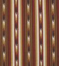 Robert Allen @ Home Lightweight Decor Fabric 54\u0022-Ikat Stripe Spice