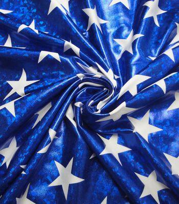 "Cosplay by Yaya Han Stretch Fabric 58""-Superhero Metallic Stars Blue"