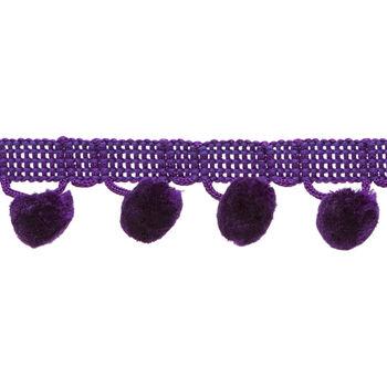 1-1/8 In Ball Fringe Purple