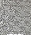 Save The Date Scallop Sequin Fabric 56\u0027\u0027-Eggnog