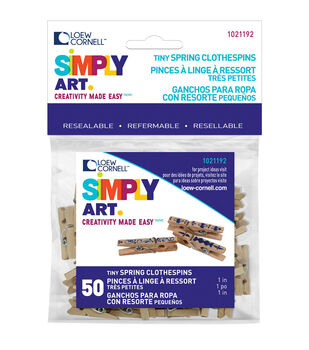 Loew-Cornell 1'' Clothespins-50PK/Natural