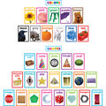Colorful Photo Shapes & Colors Cards Bulletin Board Set