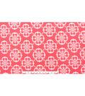 Blizzard Fleece Fabric 59\u0022-Coral Geometric