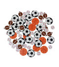 Little Makers Foam Stickers Sports Balls-Printed
