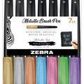 Zebra Metallic Brush Pen 7pk