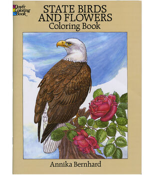 Adult Coloring Book-Dover Publication State Birds & Flowers