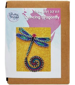 Pretty Twisted String Art DIY Kit-Dancing Dragonfly