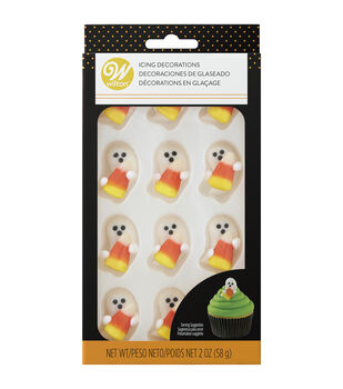 Wilton Icing Decorations-Ghost with Candy Corn