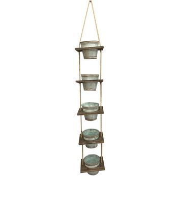 Bloom Room Vertical Garden with 5 Metal Pots