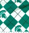 Michigan State University Spartans Fleece Fabric -Argyle