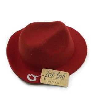 """Fab Lab 5"""" Felt Hat-Red"""