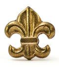 Dritz Home Metal Fleur de Lis Knob-Brass