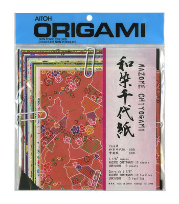 "Origami Paper 5.875""X5.875"" 20 Sheets-Wazome Chiyogami Unryushi"